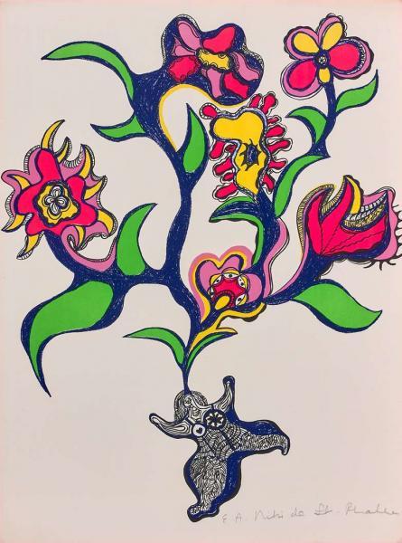 Niki De Saint Phalle 1930 2002 Reve Ou Nana Fleurs 1971 Lithographie En Lot 44 Limited Edition Chez Artcurial Auction Fr