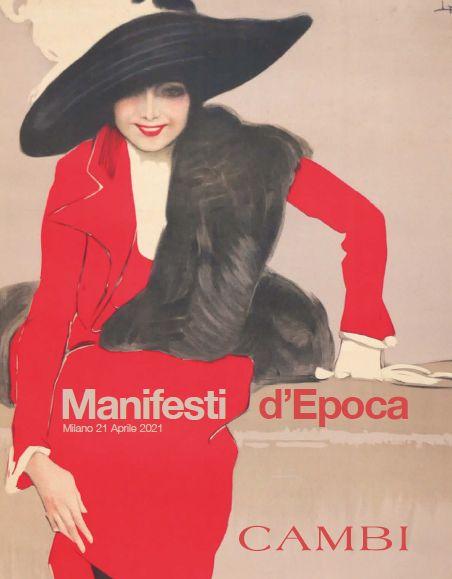 Vente Vintage Posters (Milano)  chez Cambi Casa d'Aste : 211 lots