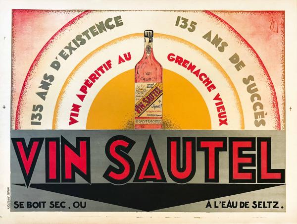 Tony, VIN SAUTEL - First edition litographic poster, 1929.  - Cm 60x80. Nice [...]