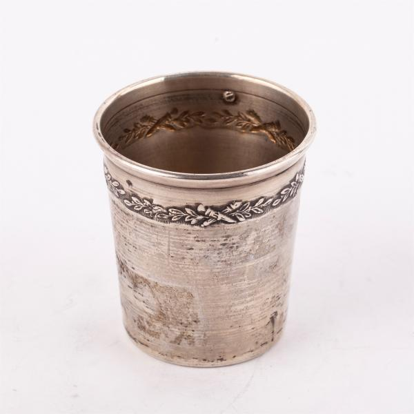 French silver beaker. 800 silver standard, maker's mark of Auguste Pawly, France, [...]