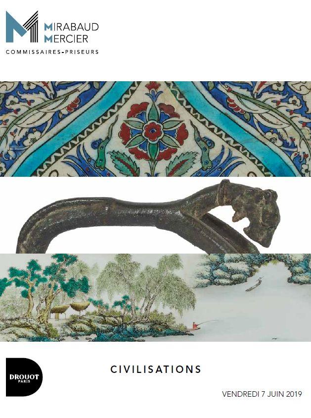 Vente Civilisations : Archéologie, Arts de l'Afrique, Arts de l'Islam, Arts d'Asie chez Mirabaud-Mercier  : 324 lots
