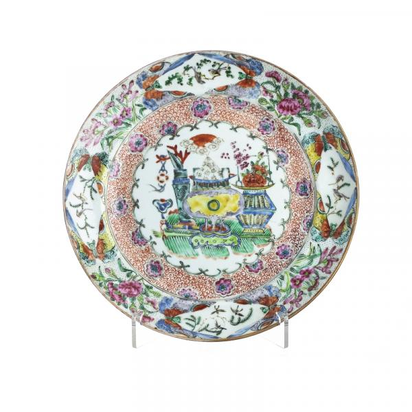 Chinese flower vases porcelain plate, Minguo - China, Minguo period, famille rose [...]