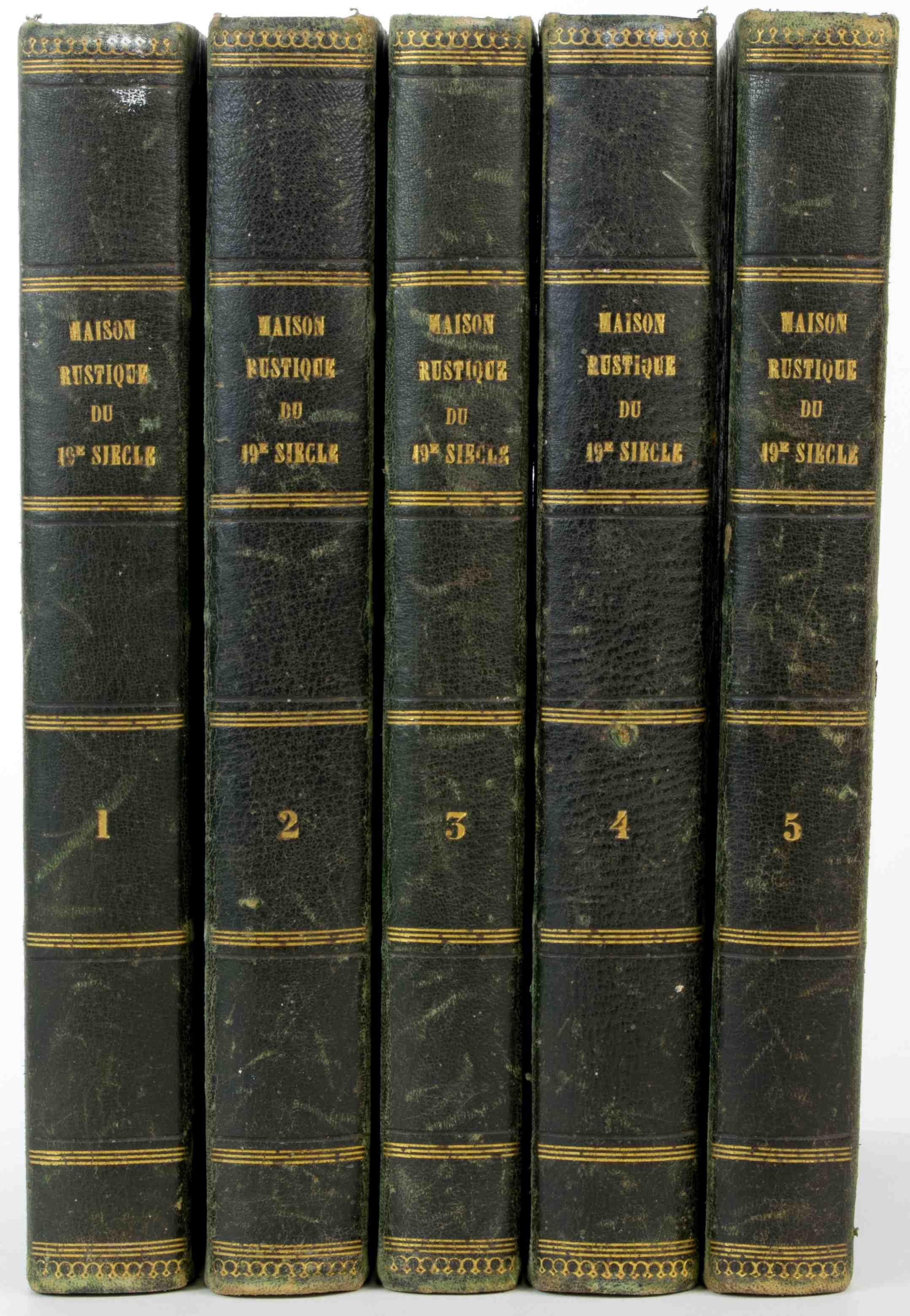 """La maison rustique du XIXème siècle"""". 9 volumes. -  lot 9"""