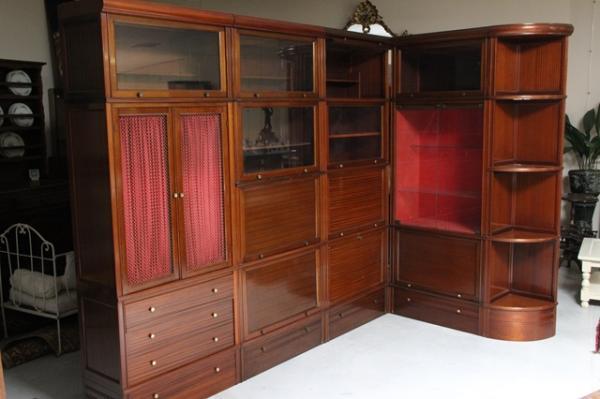 Meubles Md Modulables En Angle Placage D Acajou Lot 419 Belle Vente Chez Quimper Encheres Auction Fr