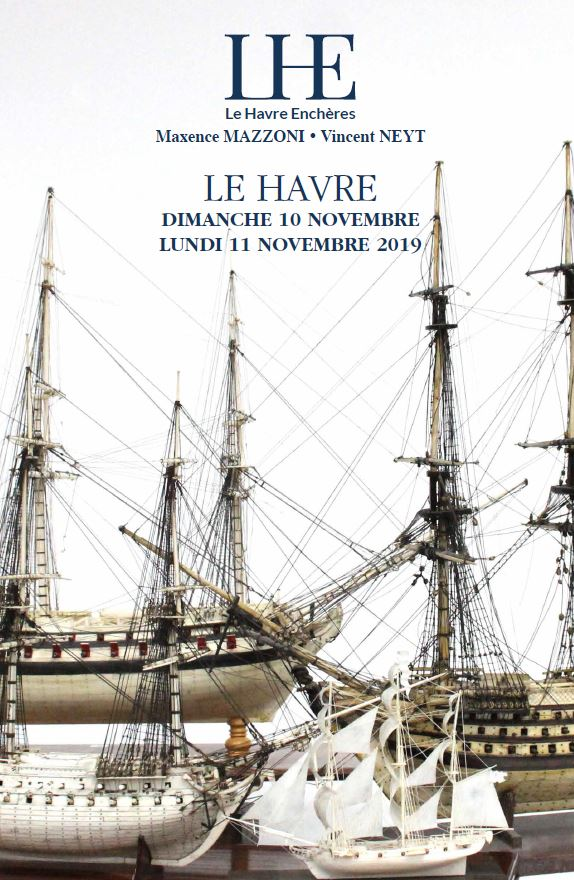 Vente Vente d'Antiquités de marine * Voyages * Transatlantiques chez Le Havre Enchères : 291 lots