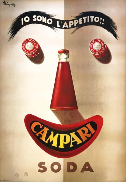 Giovanni Mingozzi (1891-1975), I AM THE APPETITE!! – CAMPARI - First offset [...]