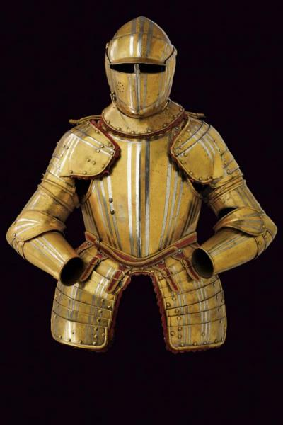 A Viscontea type cavalry half armour - dating: About 1630  - provenance: Italy, [...]