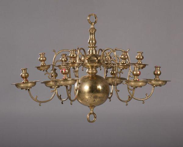 Lustre hollandais en laiton à six bras de lumière haute epoque à piasa auction fr