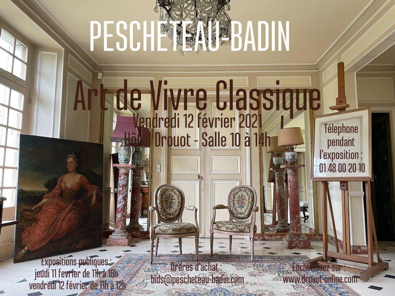 Vente Art de Vivre Classique - Tableaux, Mobilier, Objets d'Art chez Pescheteau-Badin : 331 lots