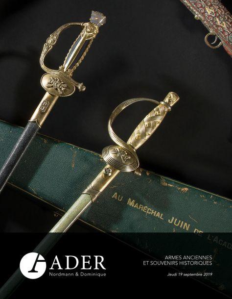 Vente Armes Anciennes & Souvenirs Historiques chez Ader : 329 lots