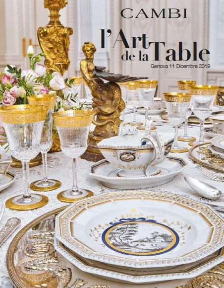 Vente L'Art de la Table (Genova) chez Cambi Casa d'Aste : 274 lots