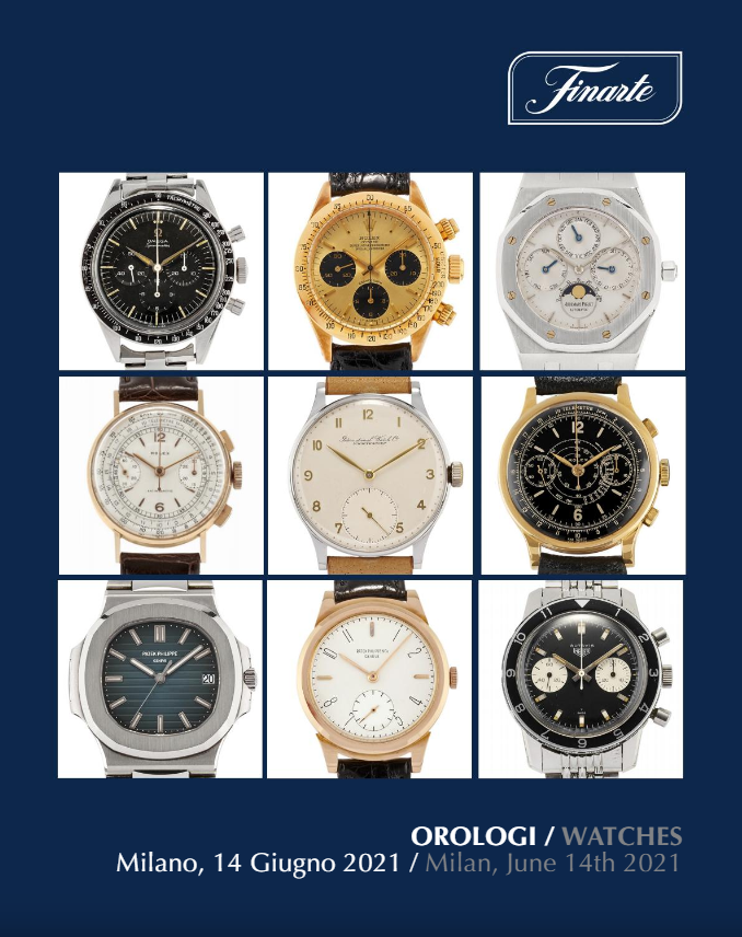 Auction Watches (Milano) at Finarte Auctions S.r.l. : 108 lots