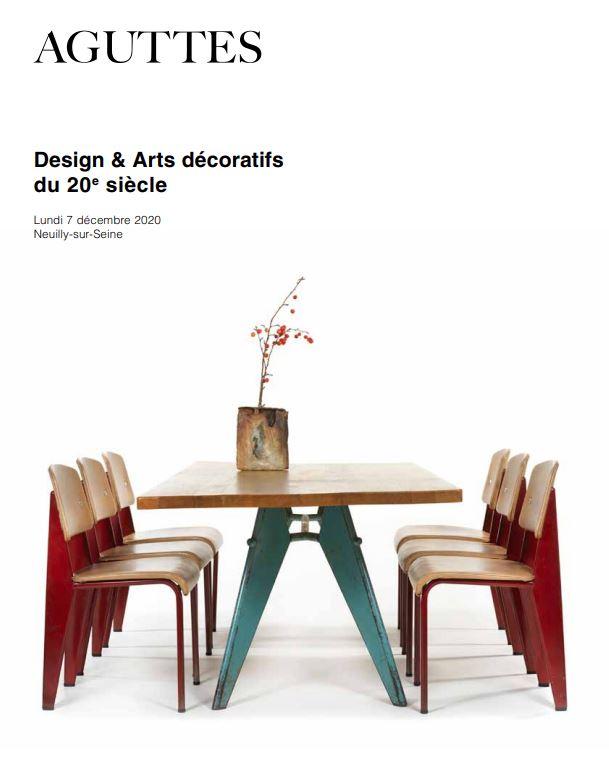 Vente Design & Arts décoratifs du 20e siècle chez Aguttes : 198 lots