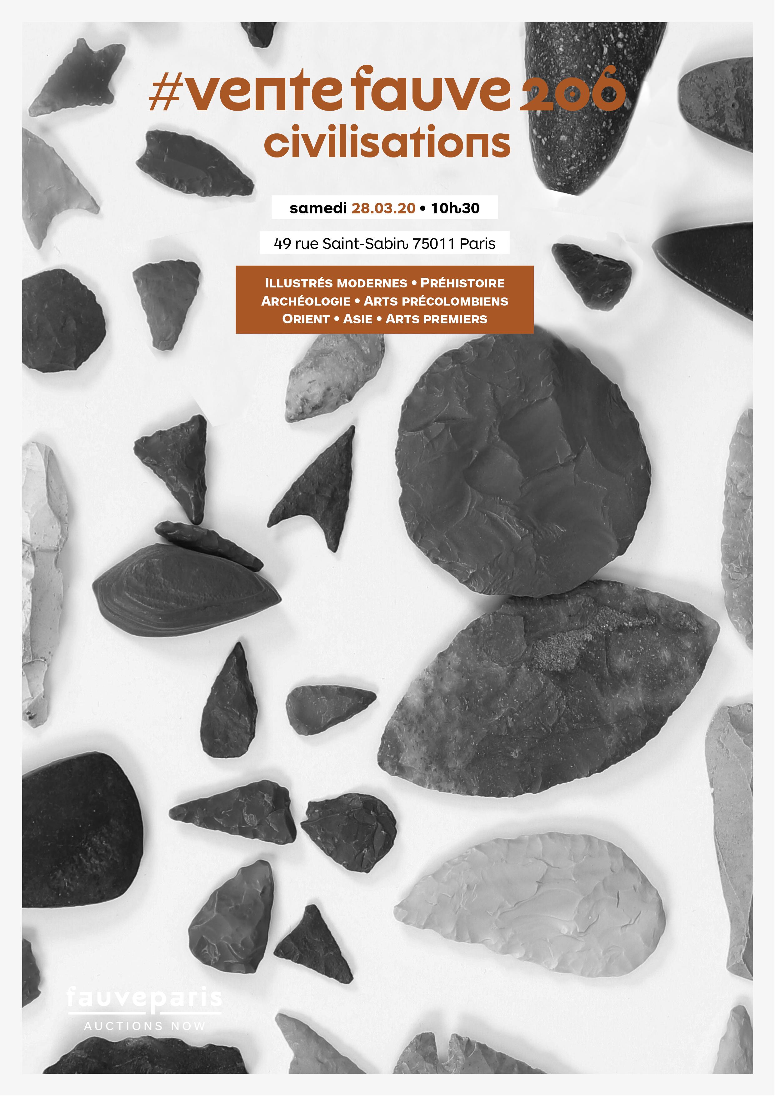 Vente #VenteFauve206 : Illustrés modernes, Préhistoire, Archéologie, Arts précolombiens, Orient, Asie, Arts premiers chez FauveParis : 119 lots