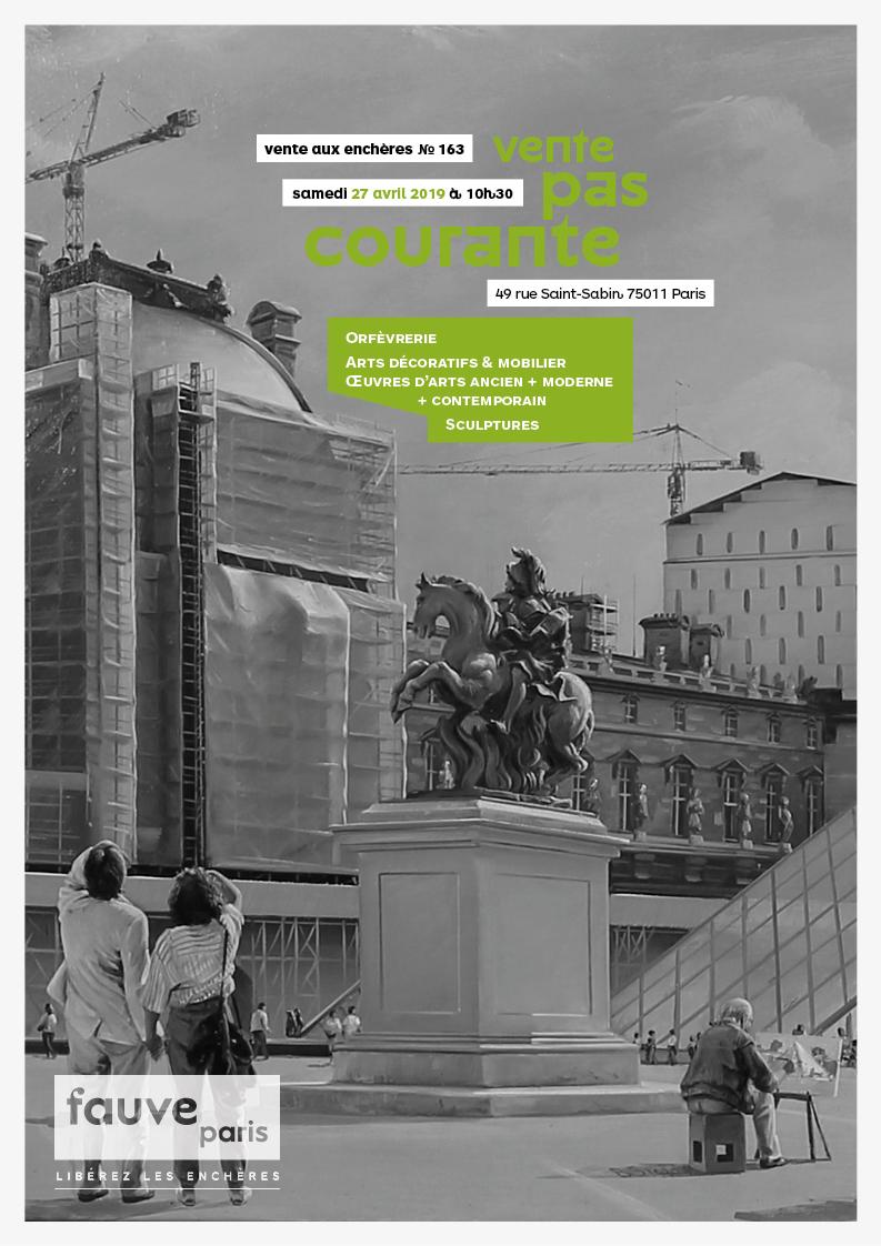 Vente VENTES PAS COURANTE + SIGNATURE : Orfèvrerie, Arts décoratifs & mobilier • Archéologie • Arts moderne + contemporain chez FauveParis : 133 lots