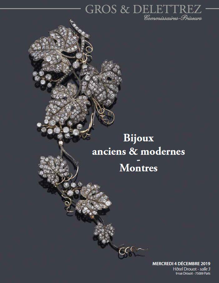 Vente Bijoux Anciens et Modernes, Montres chez Gros - Delettrez : 367 lots
