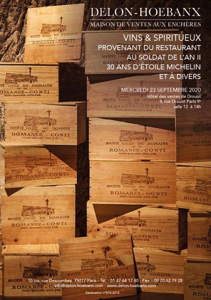 Vente Vins et Spiritueux chez Delon-Hoebanx : 441 lots
