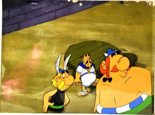 Asterix Cellulo Couleur Asterix Et Obelix Avec Decor Du Dessin