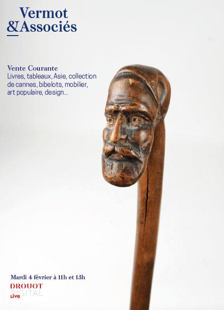 Vente Vente Courante: Livres, Tableaux, Asie, Collection de Cannes, Bibelots, Mobilier, Art Populaire, Design chez Vermot et Associés : 516 lots