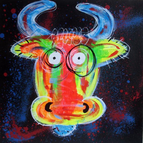 Pyb Portrait Vache Pop Art 2019 16137622 Auction Fr