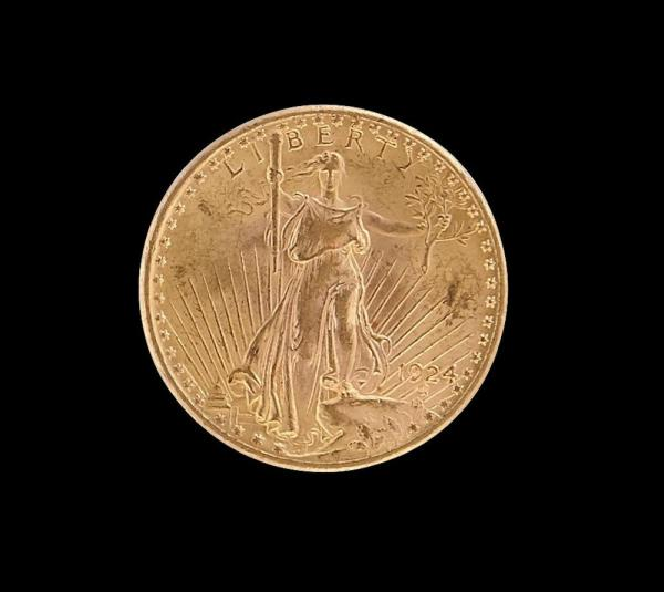 ETATS-UNIS 20 DOLLARS or eagle 1924 -