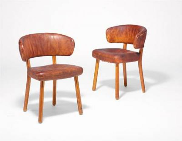 Hans Christian Hansen, Viggo S. Jørgensen: A pair of rare chairs with round ash wood [...]