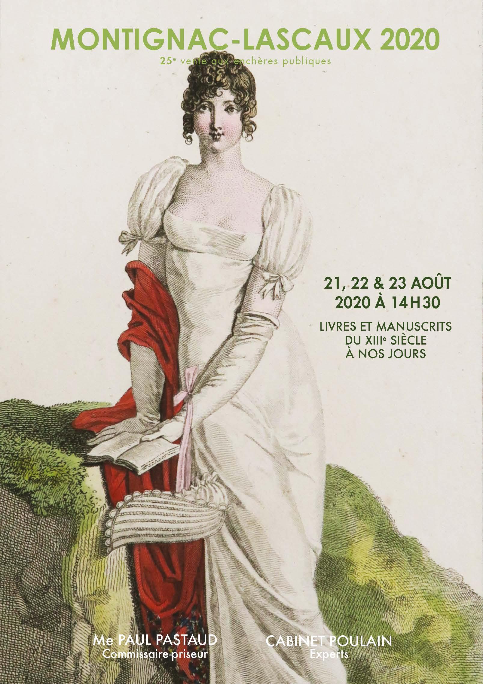 Vente Montignac : 25e vente de Livres Anciens et Modernes - 1er jour (n°1 à 558) chez PASTAUD Maison de Ventes aux Enchères : 558 lots