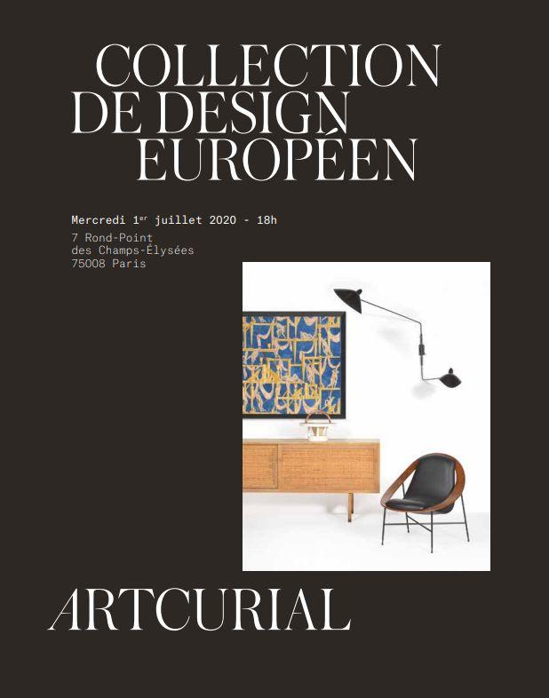 Vente Collection de Design Européen chez Artcurial : 126 lots