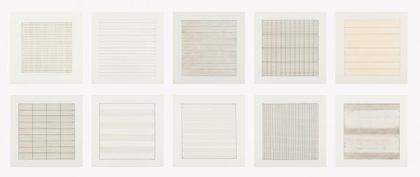Agnes Martin (1912-2004) Paintings and Drawings 1974-1990 (suite of 10)