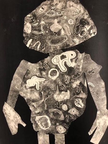 Jean Dubuffet - Personnage 1955 II  Stencil created for the art review