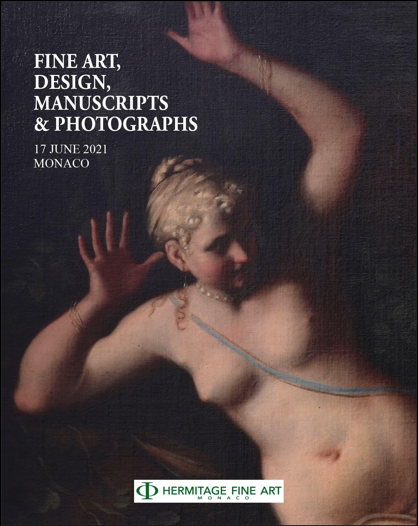 Auction Beaux-Arts, Design, Manuscrits & Photographies at Hermitage Fine Art : 306 lots