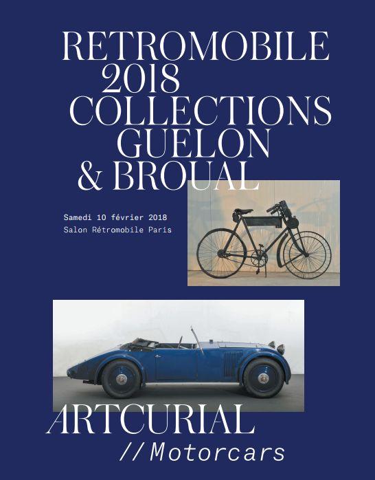 Vente Rétromobile 2018 - Collection Broual chez Artcurial : 47 lots
