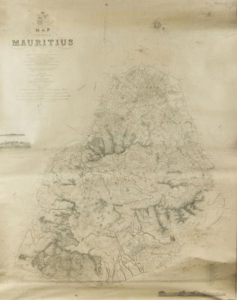 DESCUBES (A.) : Map of the island of Mauritius showing the District Boundaries [...]