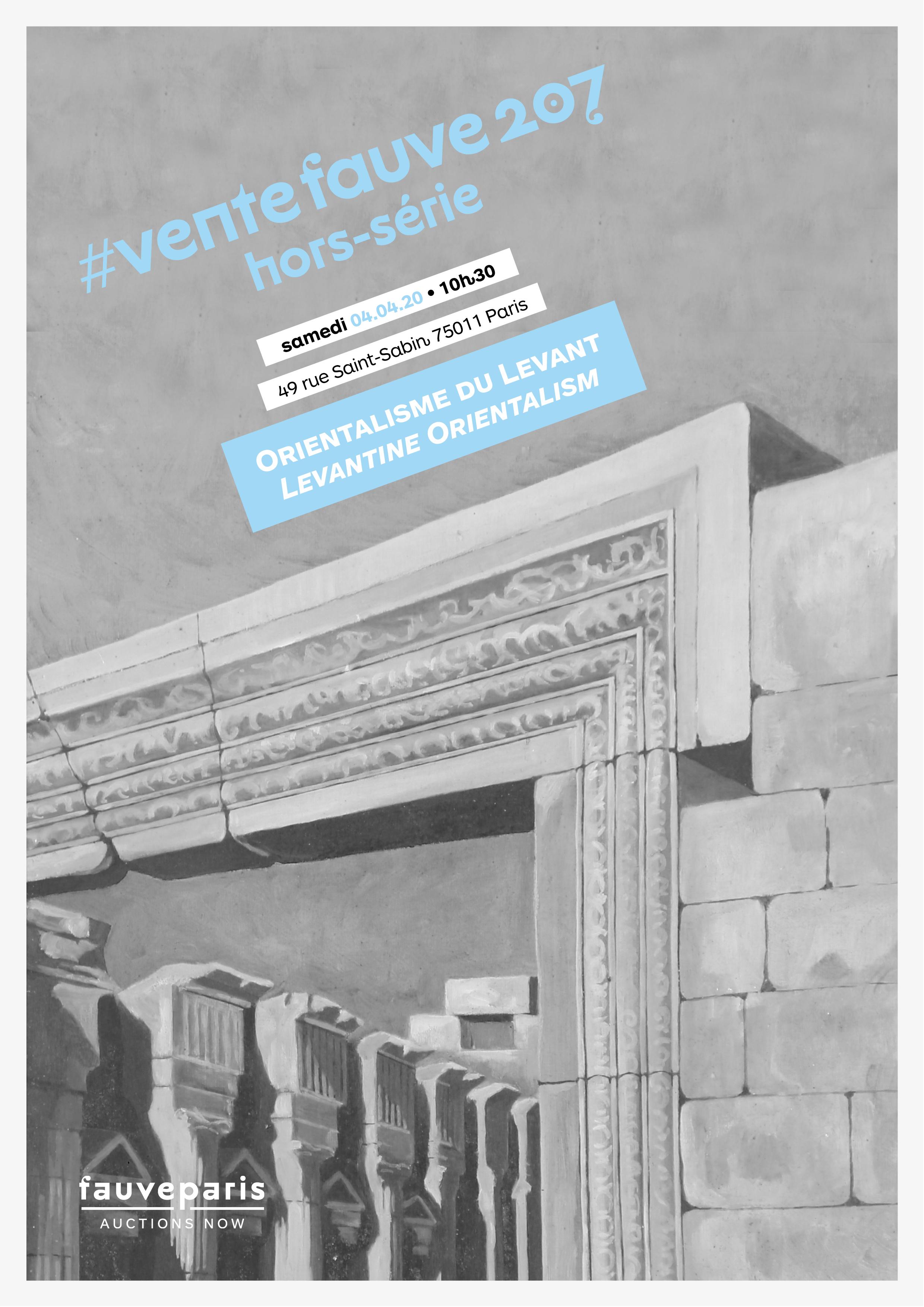 Vente #VenteFauve207 • Hors-Série : Orientalisme du Levant chez FauveParis : 31 lots