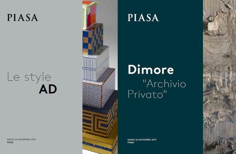 Vente Le Style AD / Dimore Archivio Privato chez Piasa : 240 lots
