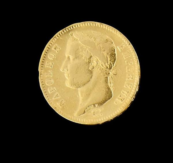 FRANCE - Napoléon Ier 40 Fr or tête laurée Paris 1812 -