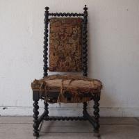 Chaise De Nourrice Napolon III Bois Tourn En Torsade Laqu Noir