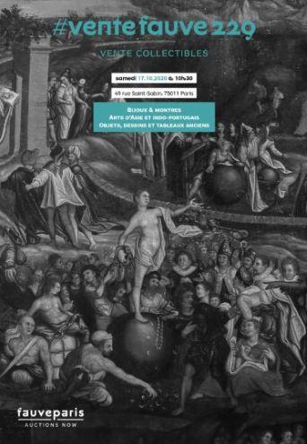 Vente #Ventefauve231 : Bijoux & Montres, Arts d'Asie et Indo-Portugais, Objets d'Art, Dessins et Tableaux Anciens chez FauveParis : 91 lots