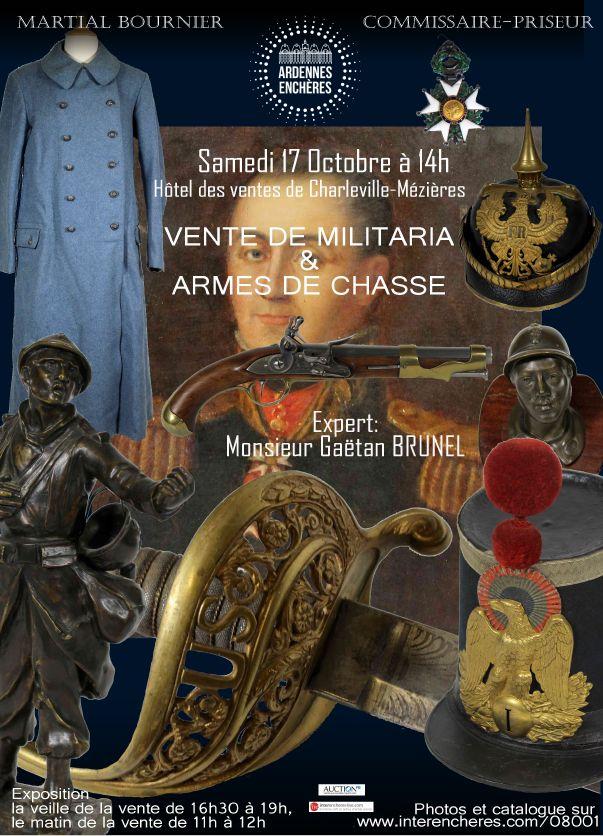 Vente Militaria & Armes de chasse chez Ardennes Enchères : 337 lots