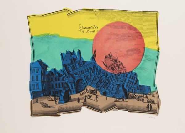 Jiri Kolar 1914 2002 Chateau Qui Reve 1986 Lithographie En Couleurs Lot 157 Summer Auction Estampes Et Multiples Chez Cornette De Saint Cyr Bruxelles Auction Fr