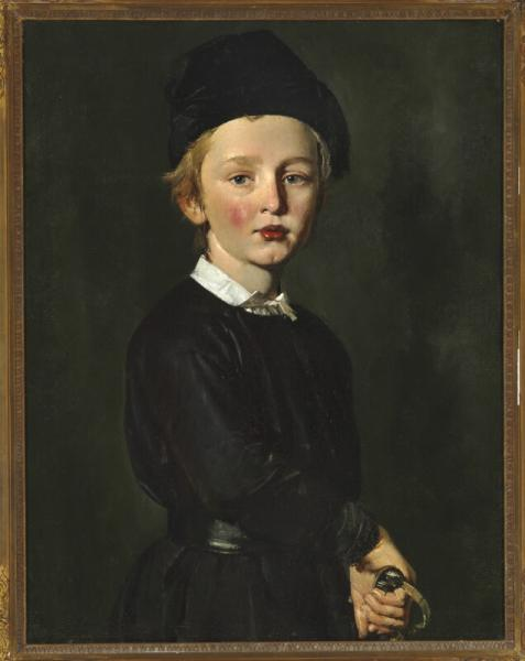 C. A. Jensen: Portrait of the artist's son Peter. C. 1846. Unsigned. Oil on canvas. [...]