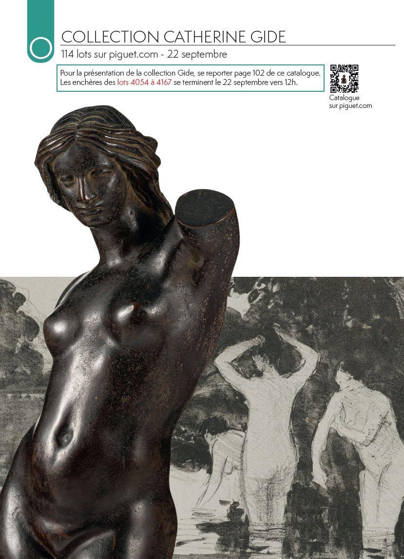 Vente VENTE ONLINE - Collection Catherine Gide chez Piguet Hôtel des Ventes : 114 lots