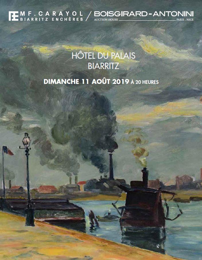 Vente Tableaux Anciens et Modernes, Objets d'Art, Mobilier (BIARRITZ) chez Boisgirard Antonini Paris : 276 lots