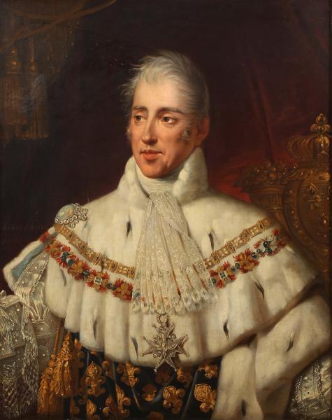 Robert LEFÈVRE (Bayeux 1755-Paris 1830). Portrait en buste de Charles X en  costume [...]   lot 36   Collection d'un Palais en Espagne et à Divers  Première Partie – Vente de Prestige