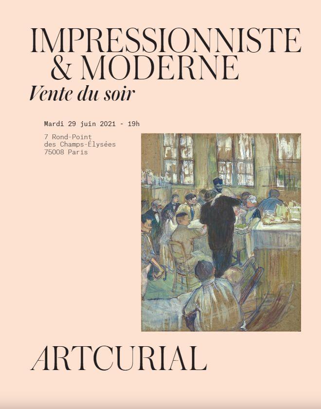 Vente Art Impressionniste et Moderne - Vente du Soir chez Artcurial : 31 lots