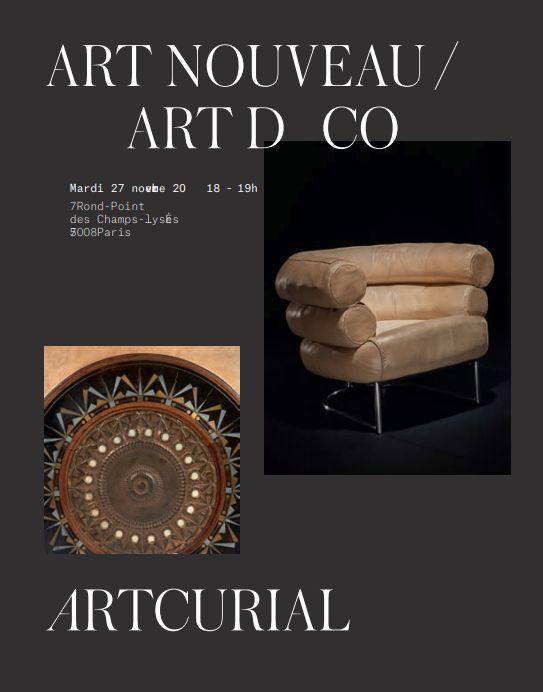 Vente Art Nouveau  Art Déco chez Artcurial : 128 lots