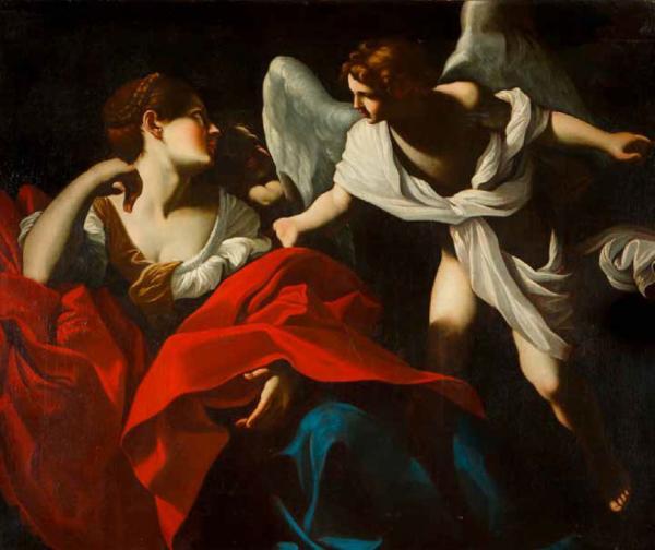 Giovanni Lanfranco (1582-1647), entourage de Agar et l'ange ...