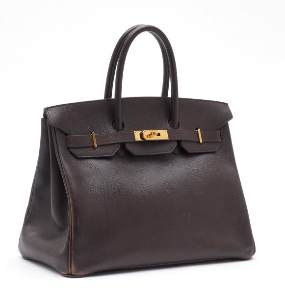 HERMÈS PARIS MADE IN FRANCE  - 1994.  - A Birkin BAG 35 cm in dark brown Epsom [...]