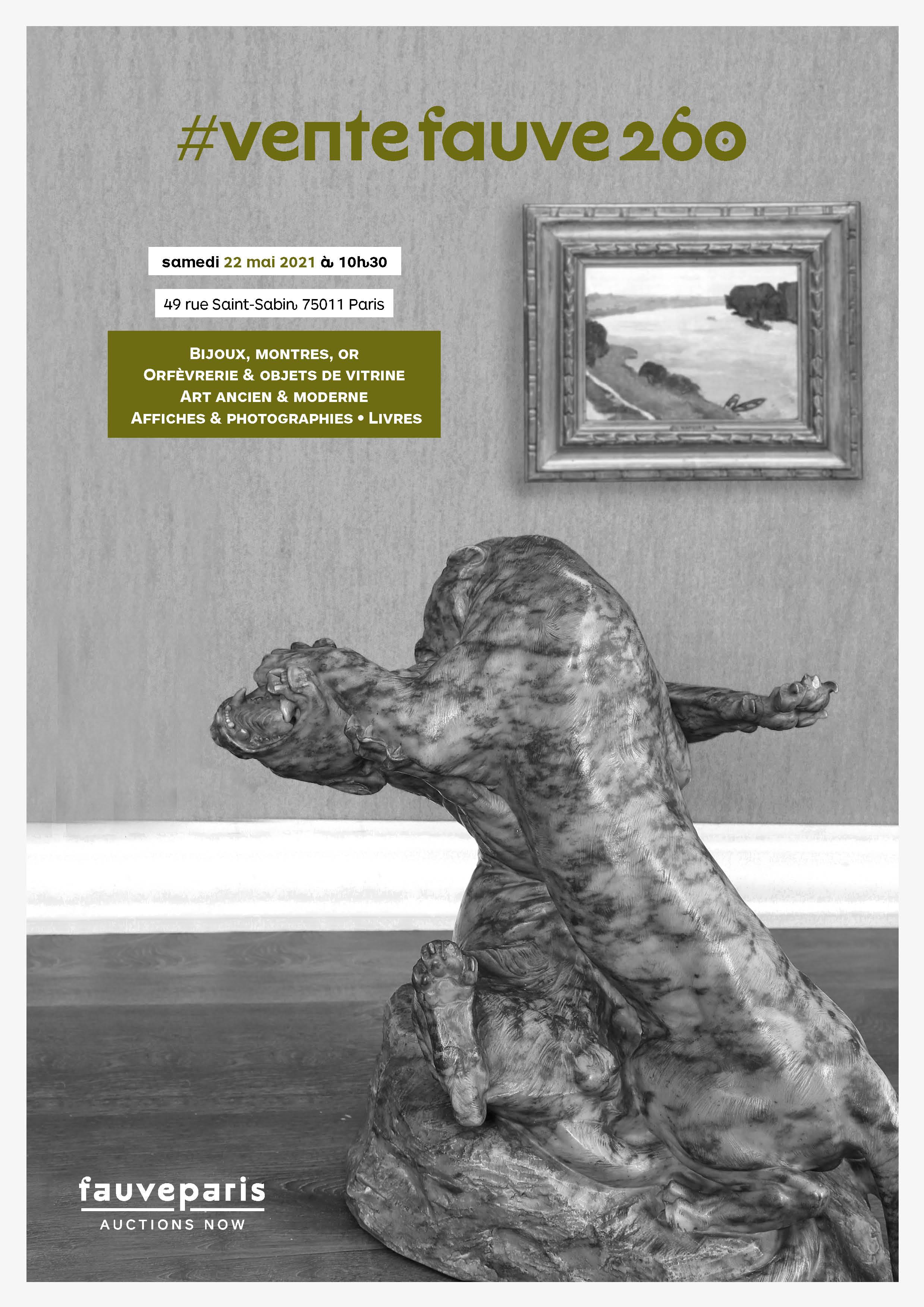 Auction Bijoux, Montres, Or, Mode, maroquinerie, Orfèvrerie & Objets de vitrine, Livres anciens & BD, Vins & spiritueux at FauveParis : 86 lots