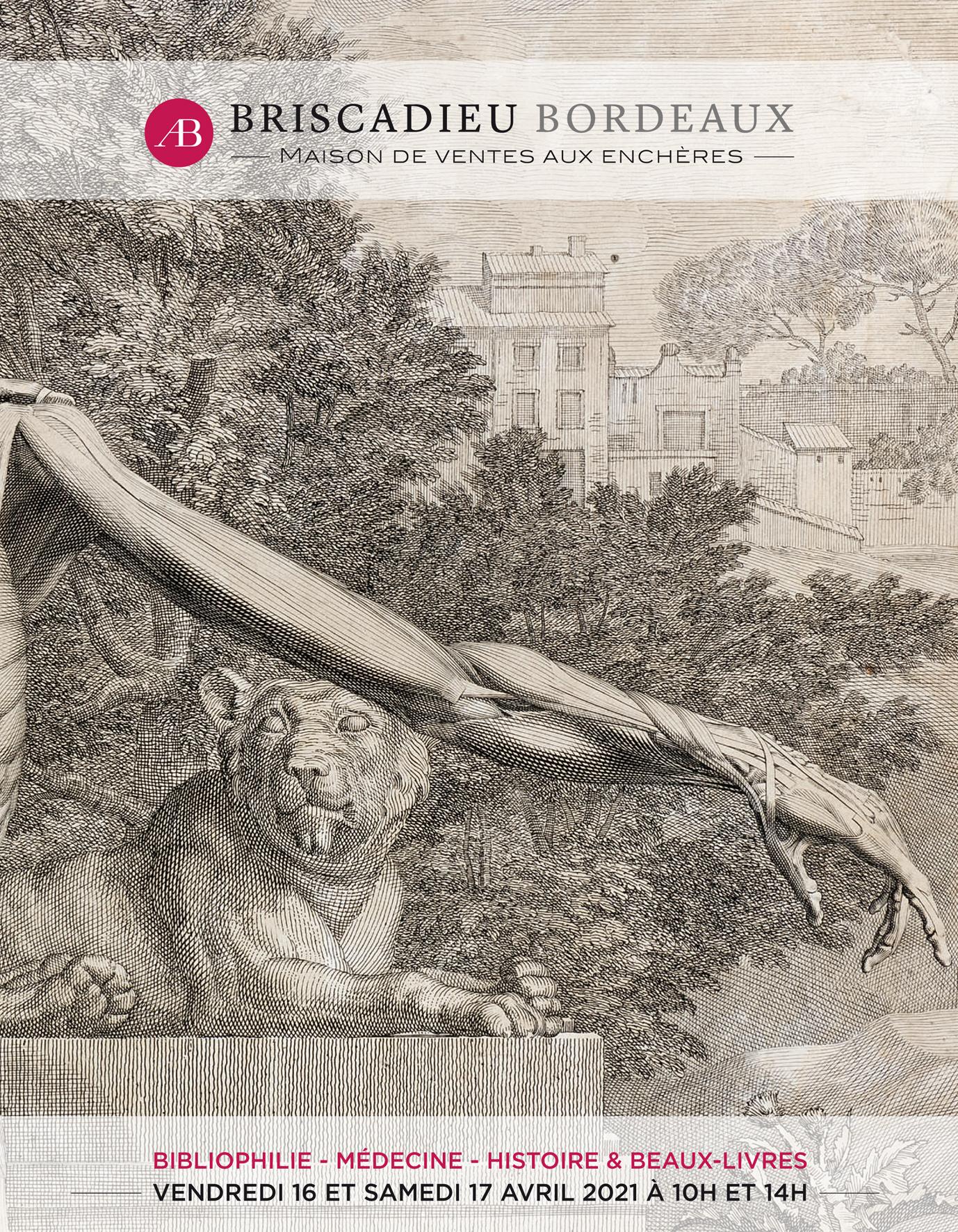 Vente Bibliophilie, Médecine, Histoire & Beaux Livres chez Briscadieu Bordeaux : 547 lots